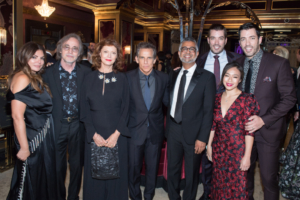 Group photo with Natasha Koifman, Jackson Browne, Susan Sarandon, Ben Stiller, Hari Ravichandran, Jonathan Scott, Drew Scott and Linda Phan